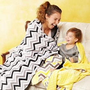 Bebe Bella Designs chevron minky chenille blankets