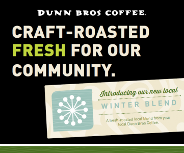 Dunn Bros Coffee winter blend