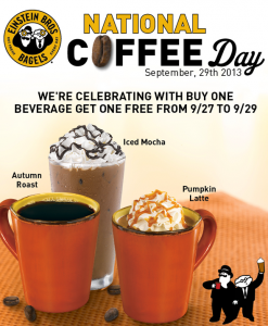 Einstein Bros Bagels National Coffee Day