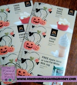 McDonald's Halloween coupon booklet