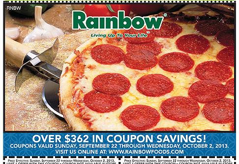 Coupon matchups rainbow foods