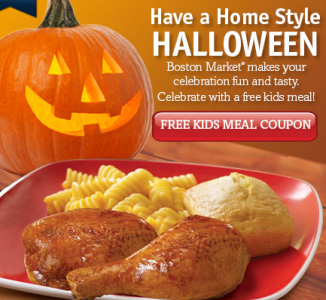 Boston Market free kids meal