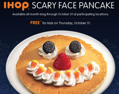 IHOP Scary Face Pancake