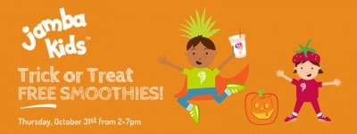 Jamba Juice free kids smoothies