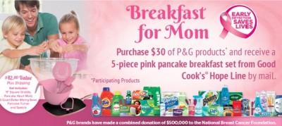 P&G breakfast for Mom rebate