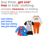 Target kids' clothing clearance
