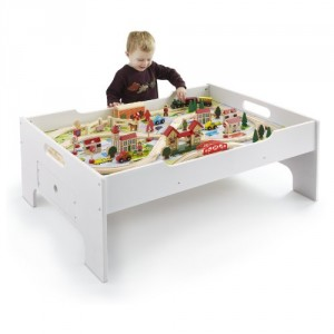sc 1 st  Pocket Your Dollars & Amazon: 80-Piece Train Set + Train Table for $64.99 Shipped