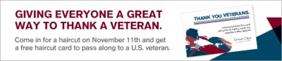 Great Clips Veterans Day