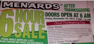 image about Menards Printable Coupons identify Menards Black Friday Promotions 11/29 - 12/1/13