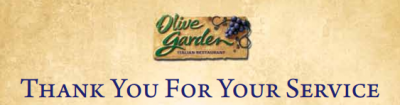 Olive Garden Veterans Day