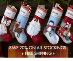 Pottery Barn Kids Stockings 20% Off + Free Shipping