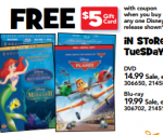 Toys R Us: Disney Planes Blu-Ray Combo Pack for $7.99 After Gift Card (Exp 11/22)