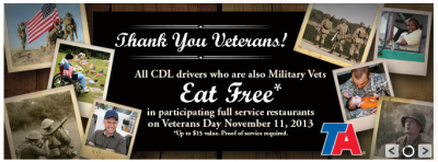 TravelCenters of America Veterans Day