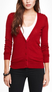 MERINO WOOL BLEND V-NECK CARDIGAN   Express