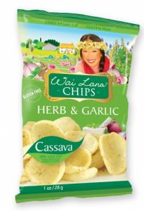 Wai Lana Cassava Chips - Herb & Garlic (1 oz.) - Abe's Market