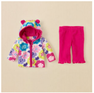 flower glacier fleece set