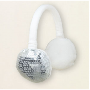 glacier fleece sequin earmuffs
