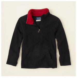 half-zip glacier fleece top