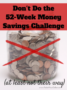 Don't Do the 52 Week Money Savings