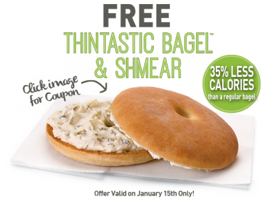Einstein Bros free thintastic bagel