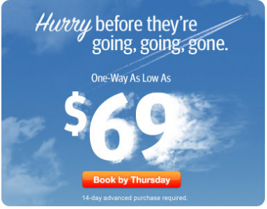 Hurry! Flights From $69 For Travel Through May 21. Sale Ends Thursday - Book Now. - lewales@gmail.com - Gmail
