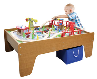 100-Piece Cityscape Train Set and Wooden Activity Table Vehicles Trains Remote Control Walmart  sc 1 st  Pocket Your Dollars & 100-Piece Train Table Set for $60 Shipped from Walmart.com