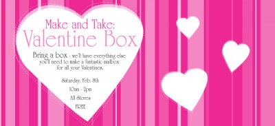 Creative Kidstuff make and take valentine box