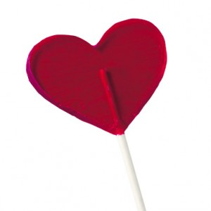Hallmark heart-shaped lollipop