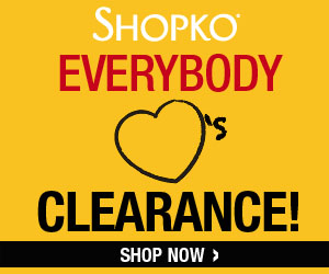 Shopko: Up to 90% off Clearance + $10 off + FREE Shipping! Head over to Shopko, where you can find their clearance sale up to 90% off! Plus, when you buy $50 or more, you can get $10 off with coupon code: SCHOOL