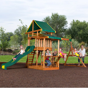 c5bc2394758 Walmart.com  Backyard Discovery Cedar Swing Sets from  299