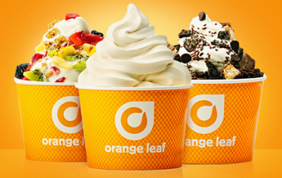 orange leaf frozen yogurt tax day