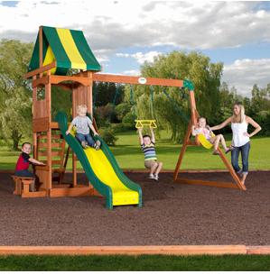 Walmart Com Backyard Discovery Cedar Swing Sets From 299