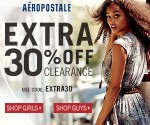 Aeropostale: Extra 30% Off Clearance – Items As Low As $3.50 (Exp 6/1)