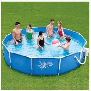 Summer Escapes 12 X 26 Metal Frame Swimming Pool