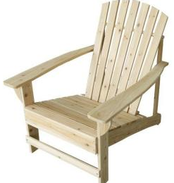 sc 1 st  Pocket Your Dollars & Home Depot: Unfinished Adirondack Chair $39 + Free Store Pickup
