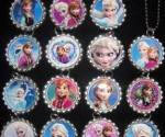 Disney's Frozen Birthday Party Items: Bottlecap Necklaces + Cupcake Rings At Low Prices
