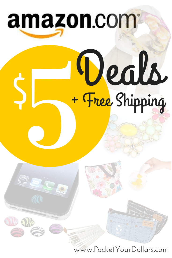 Amazon 5 Deals Items For 5 And Under Free Shipping