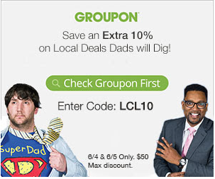 10% Off Local Deals with Groupon Coupon Code