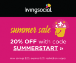 LivingSocial 20% Off: Get an Extra 20% Off Sitewide with Coupon (Exp 6/21)