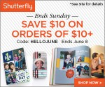 $10 Shutterfly Coupon: Get $10 Off Your Shutterfly Purchase of $10+ (Exp 6/8)
