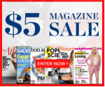 discount mags $5 magazine sale