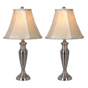newport designs 2 piece antique brass table lamp set