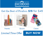 $15 for $45 Picaboo Voucher – Good on Almost Any Picaboo Photo Product