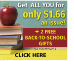 All You Magazine Deal: As Low As $1.66/issue + $5 Walmart Giftcard and Free Back-to-School Guide
