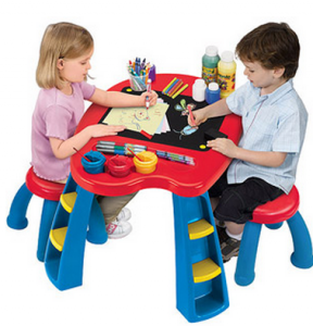 walmart crayola easels and activity tables from 24