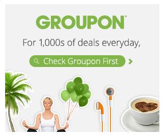 Groupon Coupon: Up to 20% off 3 Deals