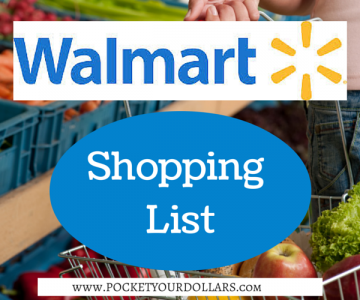 Walmart Shopping List 8/12/2018 – 8/30/2018
