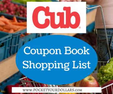 Cub Foods Shopping List 8/24 – 9/6/17