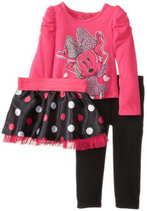 f24b0be84 This Nanette Baby Girls 2-Piece Minnie Mouse Polka Dot Skegging Set is only  $12 (regularly $40 – a savings of 70%). Amazon boys clothes