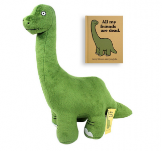 All My Friends Are Dead Book And Dinosaur Plush Set 16 95